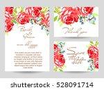vintage delicate invitation... | Shutterstock . vector #528091714
