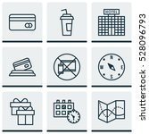 set of 9 traveling icons. can... | Shutterstock .eps vector #528096793