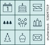 set of 9 holiday icons. can be...