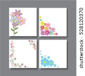 greeting card  flowers creative ... | Shutterstock .eps vector #528120370