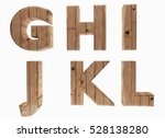 wooden alphabet letters english ... | Shutterstock . vector #528138280