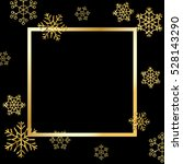gold snowflakes background.... | Shutterstock .eps vector #528143290