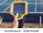 engineer or electrician working ... | Shutterstock . vector #528144268