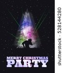 merry christmas party poster...   Shutterstock .eps vector #528144280
