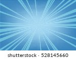 Old comic blue background with halftone gradient in pop art retro style. | Shutterstock vector #528145660