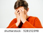 the man is sad | Shutterstock . vector #528152398