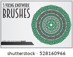 set of viking knotwork brushes. ... | Shutterstock .eps vector #528160966