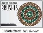 set of viking knotwork brushes. ...   Shutterstock .eps vector #528160969