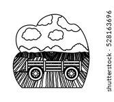 isolated farm cart design | Shutterstock .eps vector #528163696