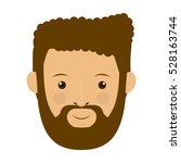 isolated man with beard design | Shutterstock .eps vector #528163744