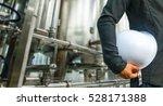 engineer suit white helmet for... | Shutterstock . vector #528171388