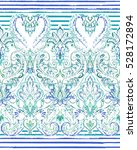 paisley striped seamless... | Shutterstock .eps vector #528172894
