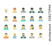 professions colored vector... | Shutterstock .eps vector #528173944