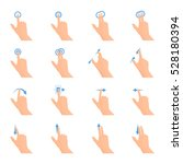 touch screen hand gestures flat ... | Shutterstock .eps vector #528180394