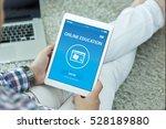 online education concept on... | Shutterstock . vector #528189880