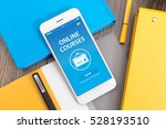 online course concept on screen | Shutterstock . vector #528193510