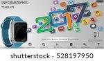 text 2017 smart watch business  ... | Shutterstock .eps vector #528197950