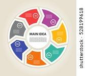 template for diagram  graph ... | Shutterstock .eps vector #528199618