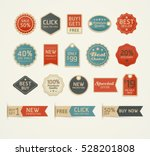 set of retro vintage badges and ... | Shutterstock .eps vector #528201808