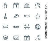set of 16 holiday icons. can be ... | Shutterstock .eps vector #528204514