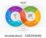 infographic template in the... | Shutterstock .eps vector #528204640
