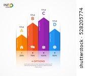 column chart infographic... | Shutterstock .eps vector #528205774
