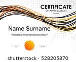 certificate of appreciation... | Shutterstock .eps vector #528205870