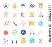 sports colored vector icons 3 | Shutterstock .eps vector #528213874