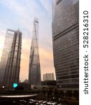 Small photo of SHANGHAI, CHINA - NOV 20, 2016: Shanghai Tower is a 632-metre, 127-storey megatall skyscraper in Lujiazui, Pudong, Shanghai