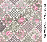 seamless floral patchwork... | Shutterstock .eps vector #528220243