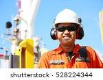 operator recording operation of ...   Shutterstock . vector #528224344