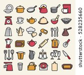 set of modern thin color line... | Shutterstock .eps vector #528235660