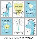 set of 6 cute creative cards... | Shutterstock .eps vector #528237460