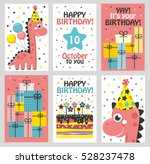set of 6 cute creative cards... | Shutterstock .eps vector #528237478