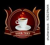 coffee label | Shutterstock .eps vector #528239644