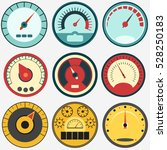 speedometer panel set  speed... | Shutterstock .eps vector #528250183