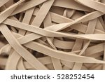 Heap Of Rubber Bands  Close Up