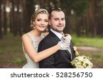 wedding couple  happy bride and ... | Shutterstock . vector #528256750