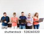 education social media concept. ... | Shutterstock . vector #528260320