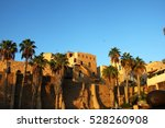 old jaffa at sunset colors ... | Shutterstock . vector #528260908
