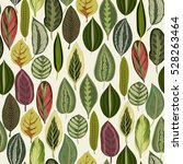 exotic tropical leaves. vintage ... | Shutterstock .eps vector #528263464