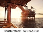 offshore construction platform... | Shutterstock . vector #528265810