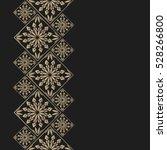 golden frame in oriental style. ... | Shutterstock .eps vector #528266800