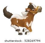 Cartoon Happy Horse Is Running...