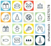 set of 16 celebration icons.... | Shutterstock .eps vector #528270178