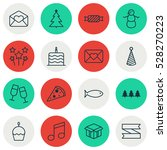 set of 16 new year icons. can... | Shutterstock .eps vector #528270223