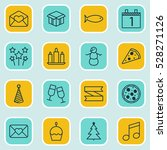 set of 16 happy new year icons. ... | Shutterstock .eps vector #528271126