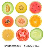 fruit and vegetables isolated... | Shutterstock . vector #528273463