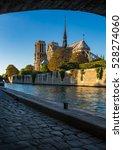 notre dame de paris cathedral... | Shutterstock . vector #528274060
