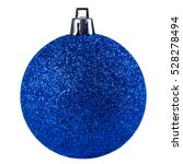 Blue Christmas Ball Isolated O...